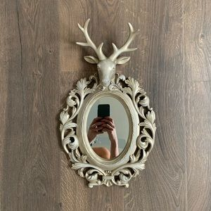 Antique Inspired Hanging Oval Mirror